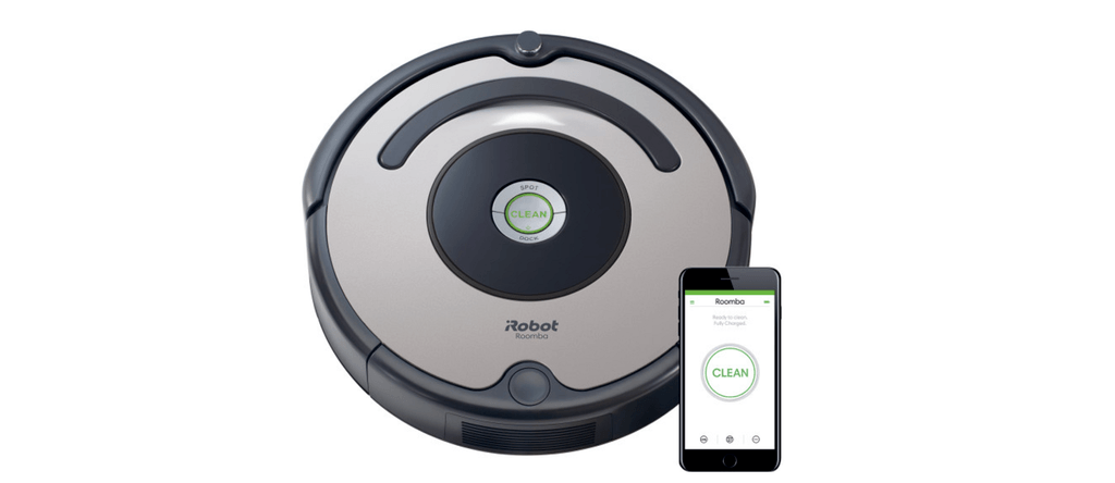 An isometric illustration of Roomba 677.
