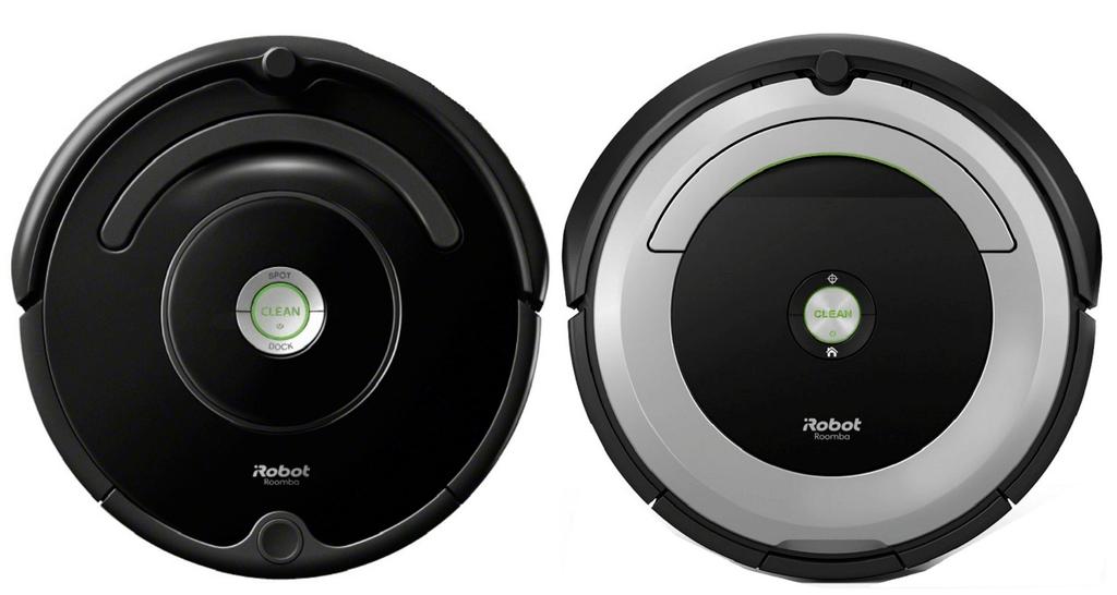 Roomba 675 next to Roomba 690.