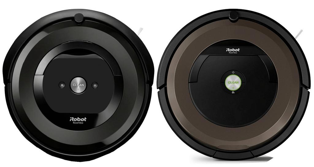Roomba e5 next to Roomba 890.
